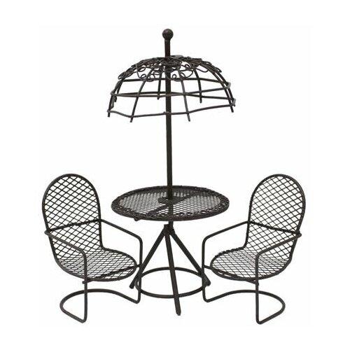KB4245/S3 Набор метал. стол с зонтиком с 2-мя стульями,корич. Астра (3шт/упак)