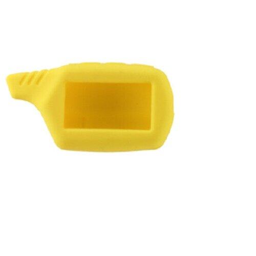 Чехол силиконовый Старлайн подходит для брелока ( пульта ) автосигнализации Starline B6 / B9 / A61 / A91 (Цвет желтый)