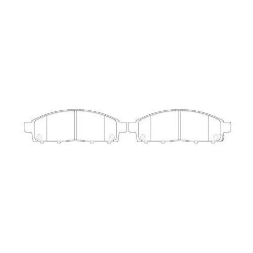 Фото - Колодки тормозные MITSUBISHI PAJERO SPORT/MONTERO SPORT 08>/L200 05> передние, FIT, FP1519 дисковые тормозные колодки передние trw gdb3435 для mitsubishi pajero sport mitsubishi montero mitsubishi l200 4 шт