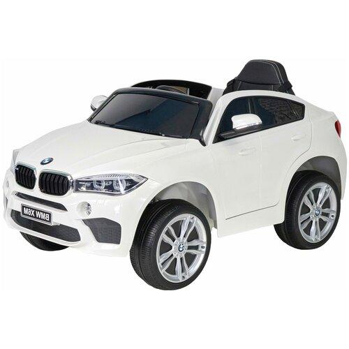 Купить Кроссовер BMW X6M JJ29 детский электромобиль (2020) (12V, колесо EVA, экокожа) (Белый), Farfello, Электромобили