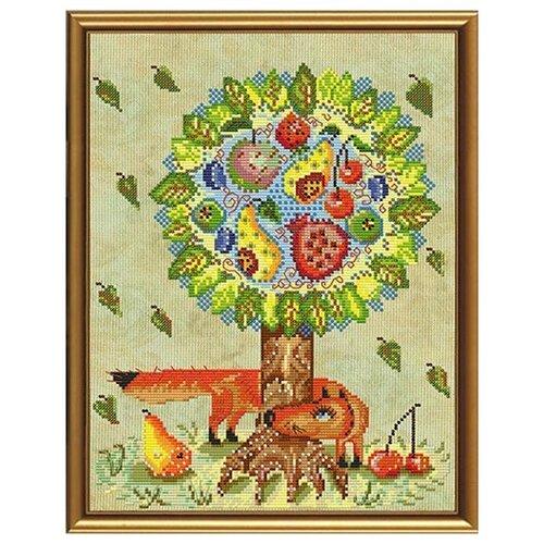 Наборы для вышивания бисером нова слобода ННД 3038 Сказочное дерево 23x30 см