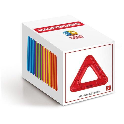 Магнитный конструктор Magformers Треугольники в коробке 12 дополнительные детали magformers 713016 супертреугольники в коробке 12