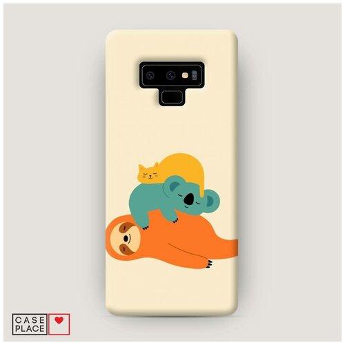 Чехол Пластиковый Samsung Galaxy Note 9 Ленивая компания