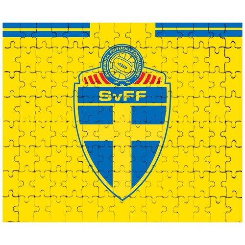 Пазл магнитный на тему чемпионата мира по футболу 2018, форма - Сборная Швеции