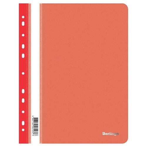 Berlingo Папка-скоросшиватель с прозрачным верхом А4, пластик 180 мкм (ASp_042), 10 шт красный