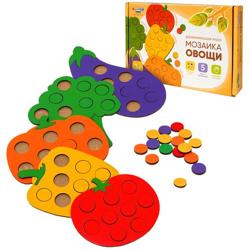 Мозаика для малышей Овощи, сортер деревянный Радуга Кидс, развивающие игрушки от 1 года