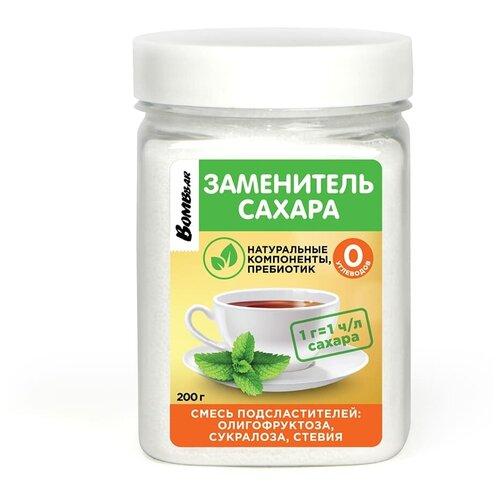 Фото - BOMBBAR Заменитель Сахара Олигофруктоза, сукралоза, стевия 200гр. заменитель сахара vitalia стевия 250 г