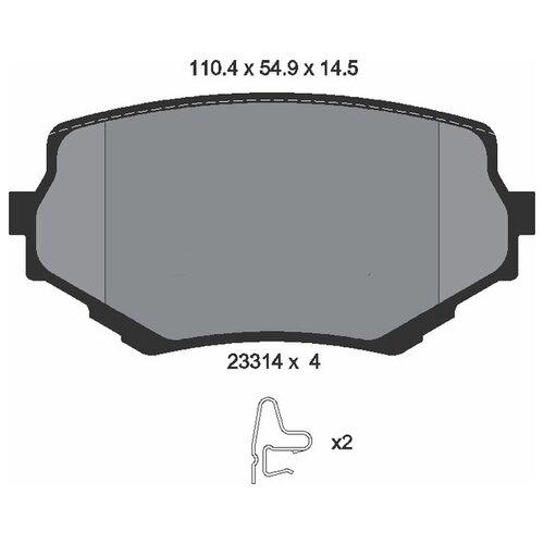 Дисковые тормозные колодки передние Textar 2331401 для Suzuki Grand Vitara, Suzuki Vitara (4 шт.)