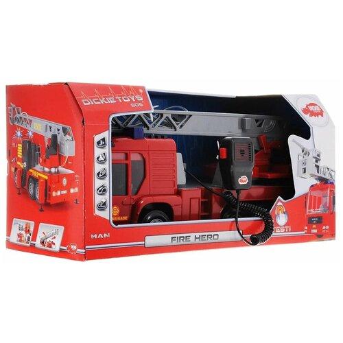 Купить Пожарная машина MAN, Dickie Toys (модель машины, свет, звук, вода, 37, 5 см), Машинки и техника