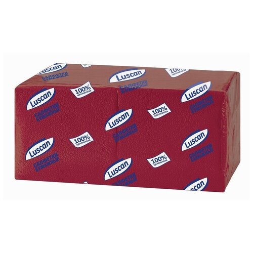 Купить Салфетки бумажные Luscan Profi Pack 1сл24х24 бордовый400шт/уп 2 шт.