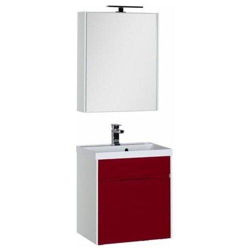 Aquanet Комплект мебели для ванной Aquanet Латина 60 бордо (1 ящик) (00181077)