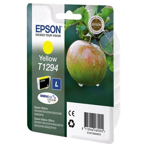 Фото - Струйный картридж Epson T1294 (C13T12944012) Yellow картридж струйный epson t04a4 c13t04a440 yellow