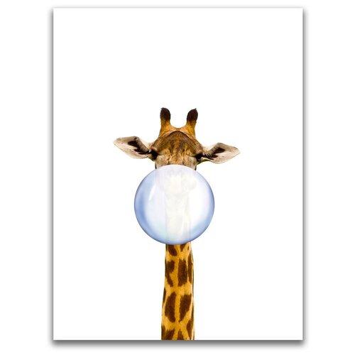 Картина на холсте LOFTime 30х40 жираф С пузырем из жевачки К-017-3040