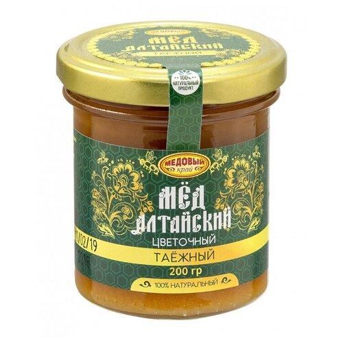 Мед таежный 200г Алтайский натуральный цветочный Медовый край 84919