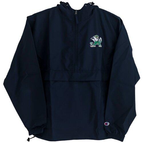 Штормовка Champion с капюшоном и логотипом NOTRE DAME FIGHTING IRISH, темно синяя