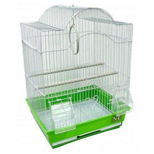 N1 клетка для птиц 35*28*46 фигурная,укомплектованная 1,69кг (дкпа413)
