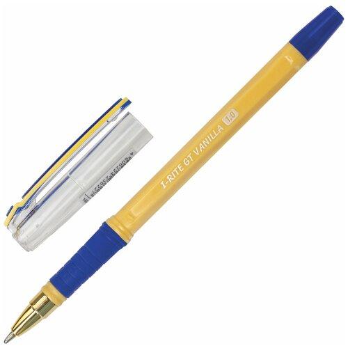 Ручка шариковая масляная с грипом BRAUBERG i-Rite GT Vanilla, синяя, корпус кремовый, узел 1 мм, 143304