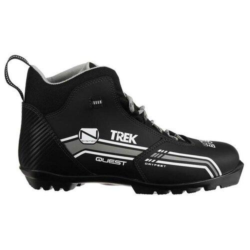 Trek Ботинки лыжные TREK Quest 2 NNN, цвет чёрный, лого красный, размер 44