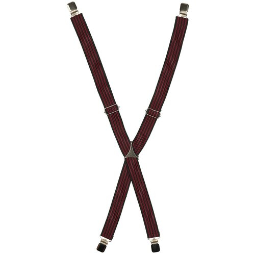 Фото - Подтяжки мужские X, ширина 35 мм, рифленые, цвет: чёрный/красный подтяжки stilmark рифленые mono