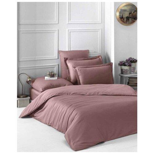 Комплект постельного белья евро LOFT (грязно-розовый) комплект постельного белья karna евро сатин однотонный loft екрю 2986 char003