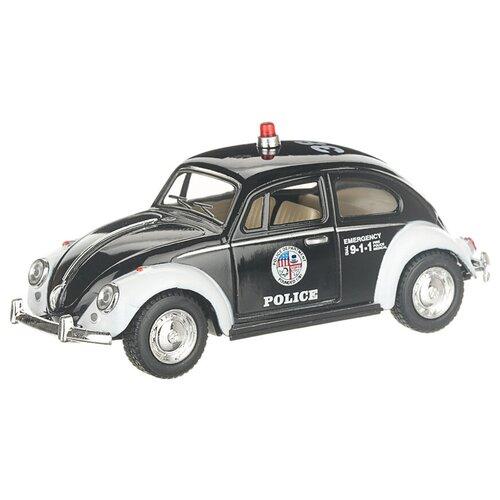 Купить Детская инерционная металлическая машинка с открывающимися дверями, модель Volkswagen Beetle Classical полиция, Serinity Toys, Машинки и техника