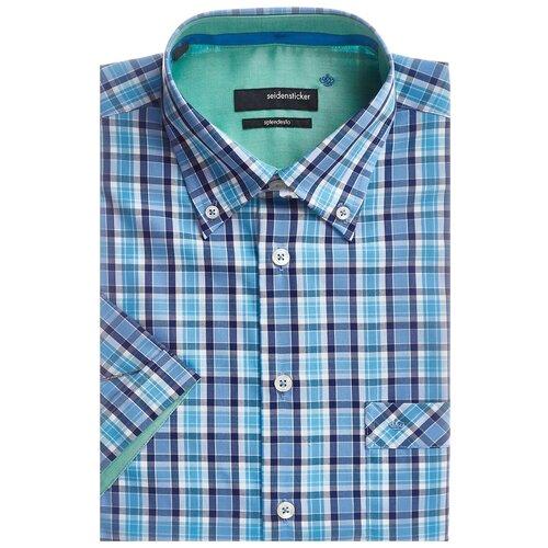 Рубашка Seidensticker размер 46 синий/белый