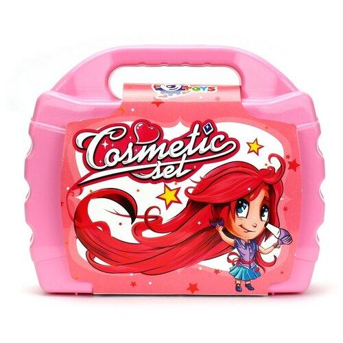 Игровой набор для девочек салон красоты детский технок (расческа, фен, плойка), 8 шт / набор парикмахера детский / парикмахерская детская / салон красоты для девочек