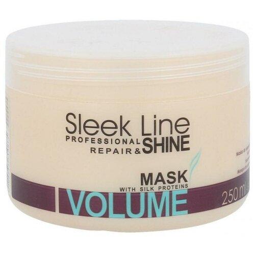 Маска для волос Stapiz Sleek Line Volume Маска с шелком, 250 мл.