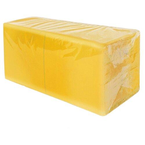 Салфетки бумажные сервировочные праздничные цветные 2сл 24см 300л Gratias Professional желтые