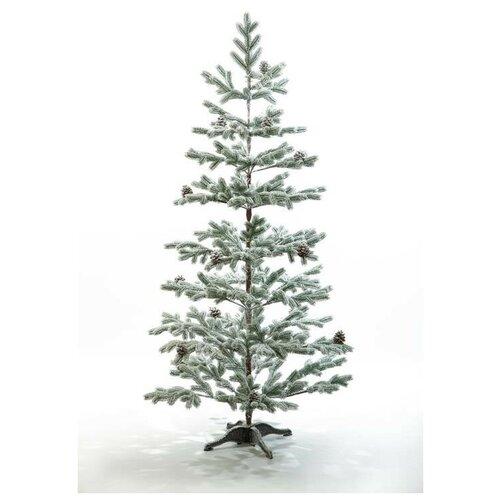 Искусственная Ель CRYSTAL TREES борго заснеженная с шишками 180 см.