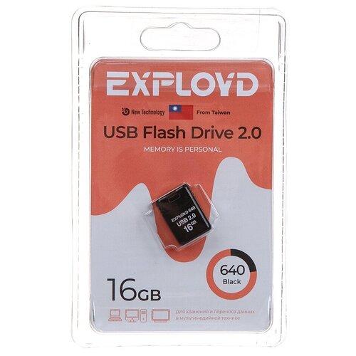 USB Flash Drive 16Gb - Exployd 640 EX-16GB-640-Black usb flash drive 16gb exployd 580 ex 16gb 580 black