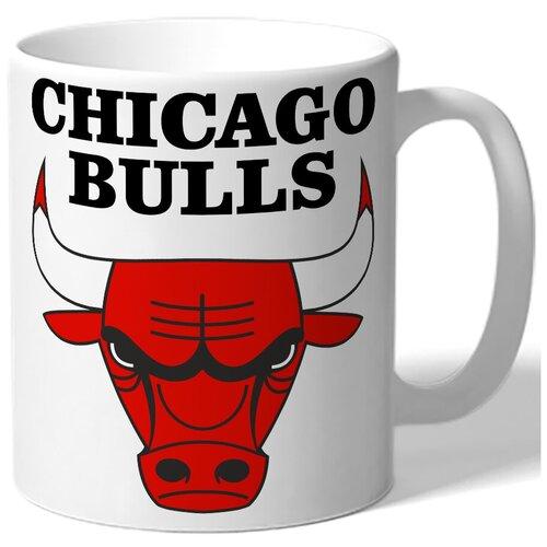 Кружка белая в подарок баскетболисту Chicago bulls