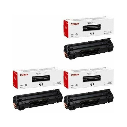 Canon Cartridge 737 3 Pack (9435B004-3PK) Картриджи комплектом Cartridge737 черный 3 упаковки [выгода 3%] Black 7.2K для I-Sensys LBP151dw LBP151, MF211, MF212w MF212, MF216n MF216, MF217w MF217, MF226dn MF226, MF229dw MF229, MF231, MF232w MF232, MF237, MF237w, MF244dw MF244, MF247dw MF247