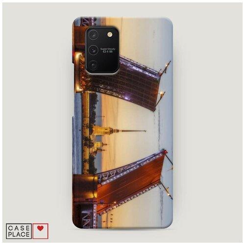 Чехол Пластиковый Samsung Galaxy A91 Разведенные мосты в СПб 1