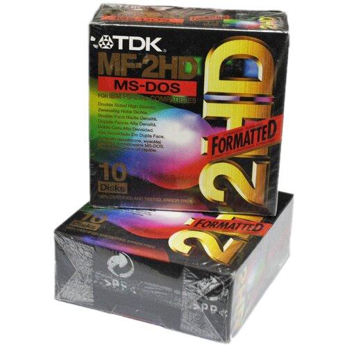 Дискеты TDK черные 1.44мв (10шт) картонная упаковка