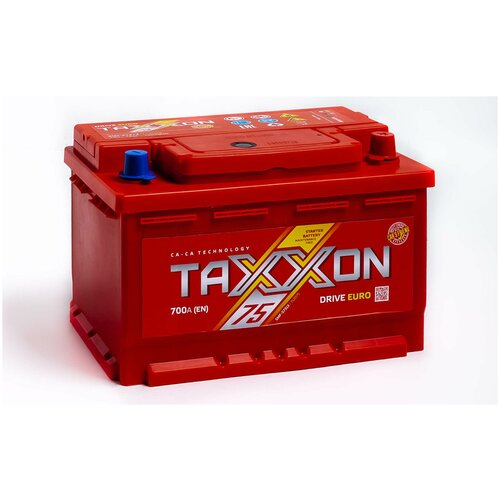 Аккумулятор автомобильный TAXXON DRIVE EURO 75R 700 А обр. пол. 75 Ач низкий (712075)
