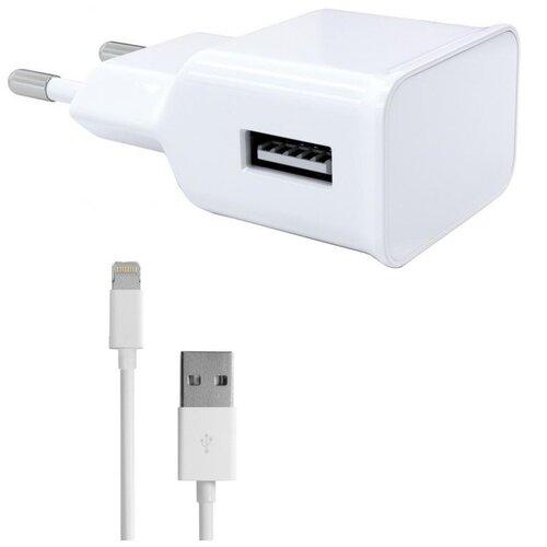 Зарядное устройство Red Line NT-1A 1xUSB 1A + кабель 8pin для Apple White УТ000013626