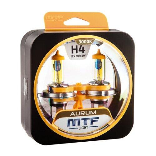 Галогеновые лампы MTF light Aurum 3000K H4 (2 лампы)