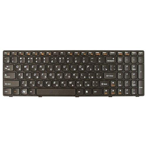 Клавиатура для ноутбука Lenovo Ideapad Z570, B570, B575, B590, V570, V580, Z575 Series. Плоский Enter. Черная, с черной рамкой. PN: 25201000. spanish laptop keyboard for lenovo b570 b590 z565 z560 z570 z575 v570a v570g b575 sp keyboard v570