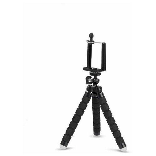 Фото - Настольный мини штатив трипод (тренога) гибкий с креплением для смартфона, черный, ISA штатив трипод с гибкими ножками держатель для смартфона шаровая головка isa