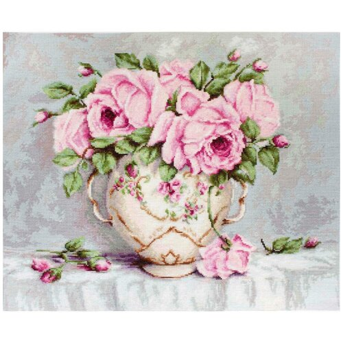Фото - BA2319 Набор для вышивания 'Розовые розы' 43*35см, Luca-S bu4022 набор для вышивания хижина в лесу 43 5 40см luca s