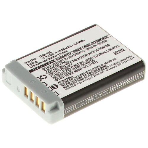 Аккумуляторная батарея iBatt 1050mAh для Canon Powershot G7X, PowerShot G7X II, Powershot G9X, Powershot G5X, Powershot G7X MARK 2