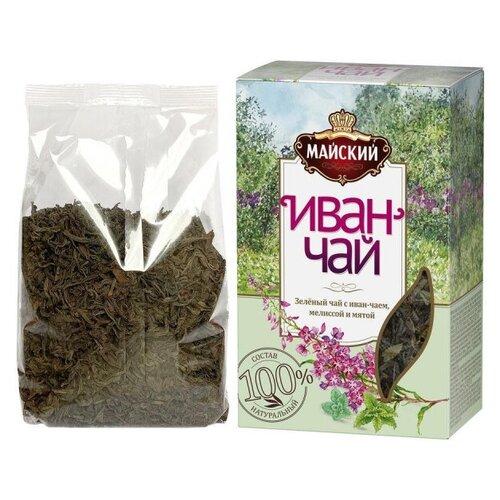 Чай Майский Иван-чай с зеленым чаем,мелиссой и мятой, 75г 2 шт.