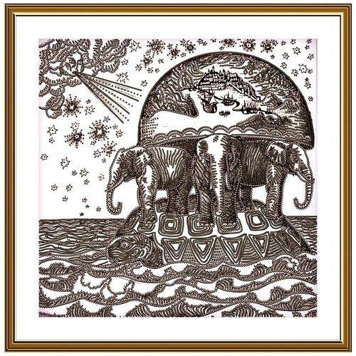 Купить Набор для вышивания Нова Слобода ДК №21 3237 Атланты Земли 25 х 25 см 1 шт., NOVA SLOBODA, Наборы для вышивания