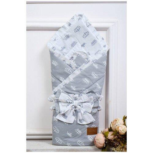 Купить Конверт-одеяло Amarobaby Happy 93 см серый, Конверты и спальные мешки