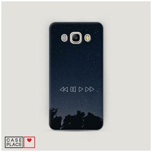 Чехол Пластиковый Samsung Galaxy J7 2016 Космическая музыка