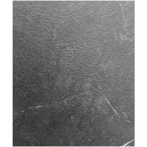 EVITA/Стол обеденный Логан черный мрамор,ноги чёрные, раздвижной 140*80/ стол для кухни/стол в столовую/ стол обеденный раздвижной/стол чёрный/ стол на металлических ногах