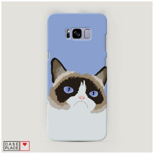 Чехол Пластиковый Samsung Galaxy S8 Plus Мем грустный кот