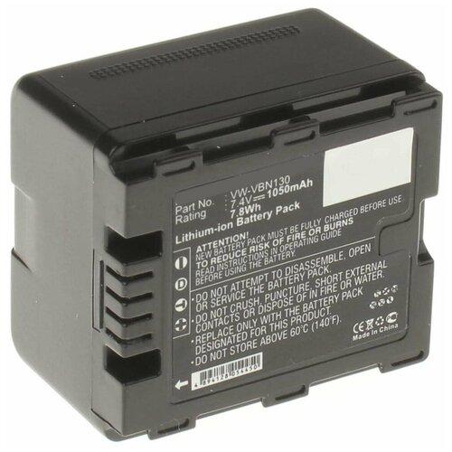 Фото - Аккумулятор iBatt iB-B1-F228 1050mAh для Panasonic VW-VBN130, VW-VBN260, VW-VBN390, VW-VBN130-K, аккумулятор ibatt ib b1 f457 3400mah для panasonic vw vbt190 vw vbt380 vw vby100 vw vbt380e k