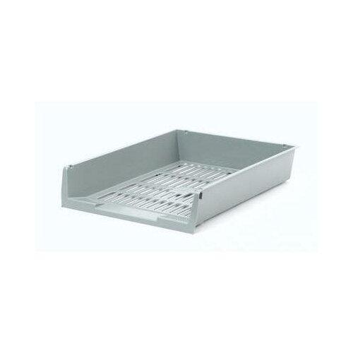 Купить Лоток для бумаг горизонтальный Attache решетчатый серый 2 шт., Лотки для бумаги